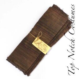 Brown distressed linen pirate sash