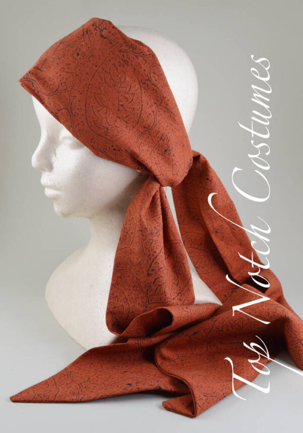 hand block printed jack sparrow headscarf