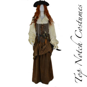 authentic quality womens pirate costume