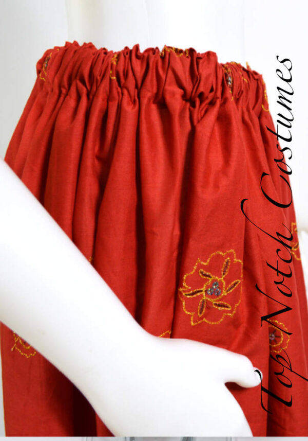 Embroidered pirate skirt
